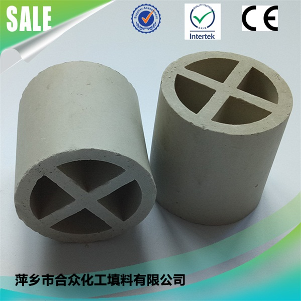Cooling Tower Packing Ceramic Cross Partition Ring for distillation system 蒸馏系统冷却塔竞博电竞押注陶瓷隔断环