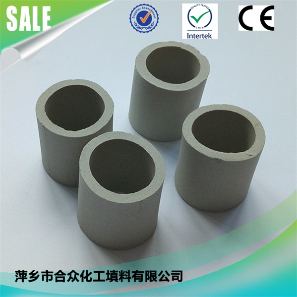 Excellent Acid Resistance & Heat Resistance Ceramic Raschig Ring for Absorb Tower 优异的耐酸耐热陶瓷拉西环,用于吸收塔