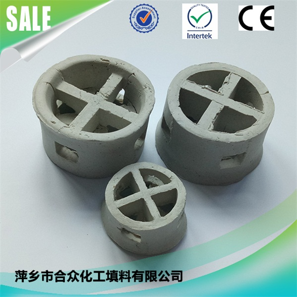 ceramic cascade mini ring packing media for for Tail Gas Scrubbers and Impasse Towers 用于尾气洗涤器和绝境塔的陶瓷阶梯微型环竞博电竞押注