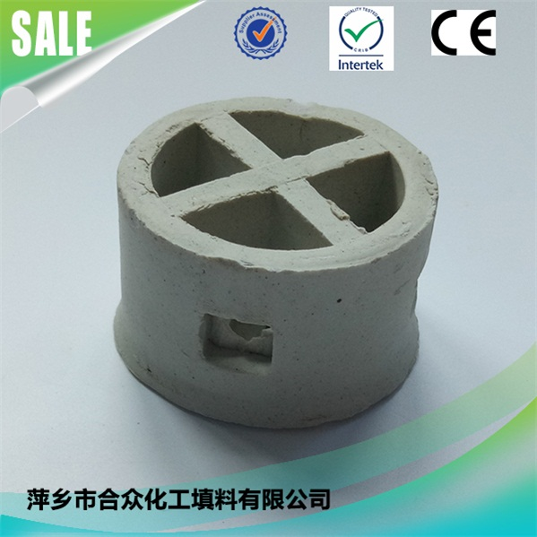 Ceramic Cascade Mini Ring for absorbing columns in chemical industry 用于化工吸收塔的陶瓷阶梯环