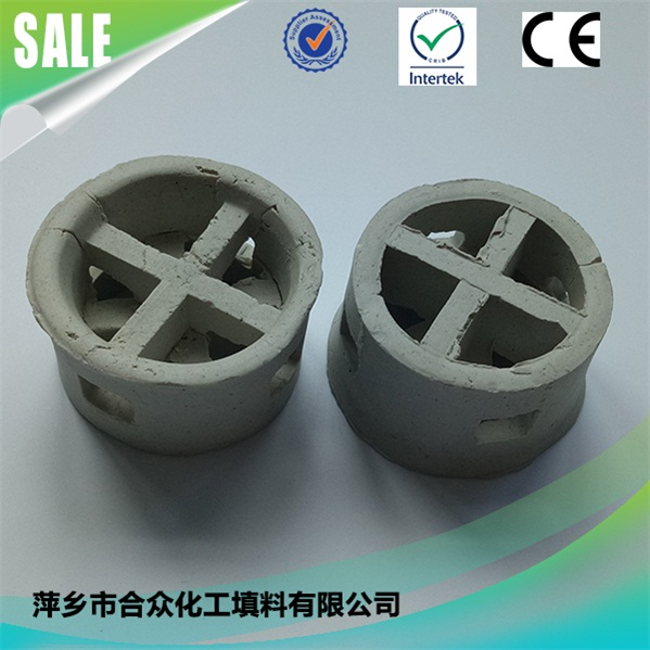 Cooling Tower Packing Ceramic Cascade Mini Ring Using in waste water treatment 冷却塔竞博电竞押注陶瓷阶梯环用于废水处理
